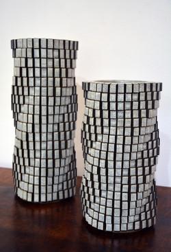 Tall and Medium Gray Spirals (4284)