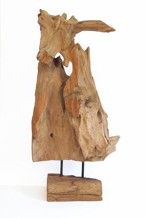 Medium Teak Sculpture