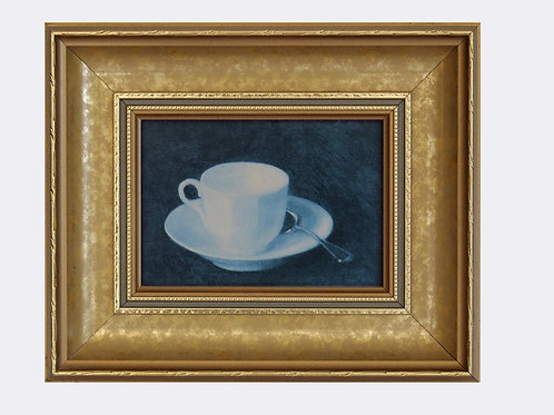 Teacup Painting with Gilded Frame