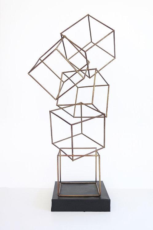Cube Contour Sculpture