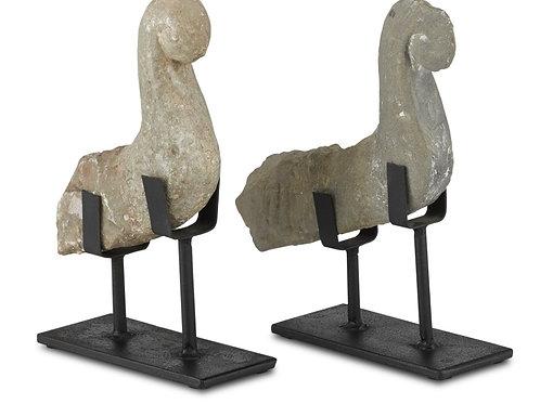 Magpie Stone Bird Set of 2
