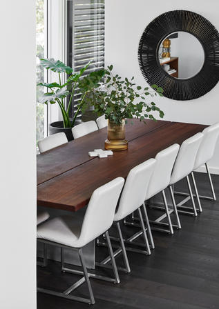 Dining Riverview Waterfront Home Meusz Interiors