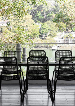 Balcony Riverview Waterfront Home Meusz Interiors