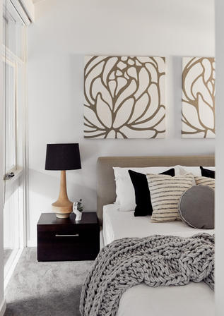 Guest Bedroom Riverview Waterfront Home Meusz Interiors