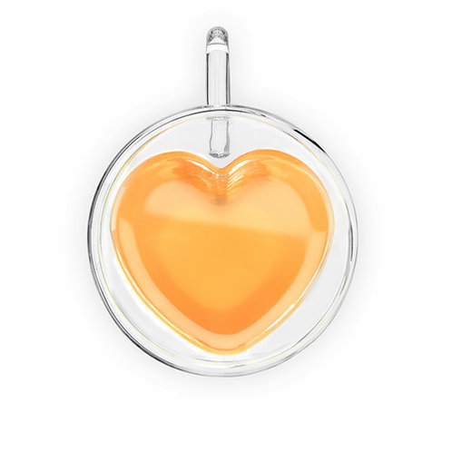 Heart Double Walled Glass Mug for Tea, Coffee, or your favorite cold beverage!