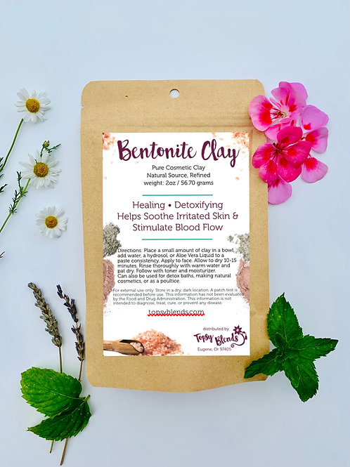 Bentonite Clay for Detoxifying & Soothing Irritated Skin