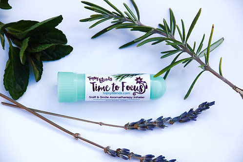 Time to Focus Aromatherapy Inhaler for Focus, Concentration and Productivity