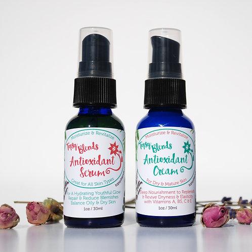 Antioxidant Face Cream & Face Serum Combo Set