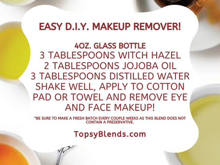 Easy D.I.Y. Natural Makeup Remover