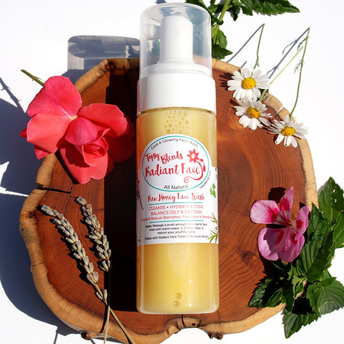 Raw Honey Face Wash 6oz. - Gold and Glowing - Organic Acne Cleanser