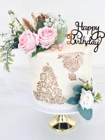 Pretty Stencils,  Birthday Cake