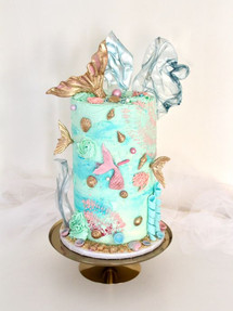 Mermaid & Seashells, Birthday Cake