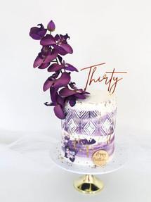Purple Glam,  Birthday Cake