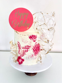 Pink Texture, Celebration Cake