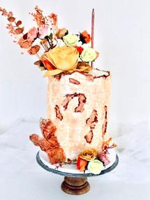 Rose gold Texture, Birthday Cake