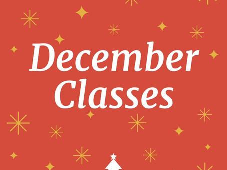 December Yoga Schedule
