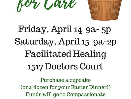 Cupcake Fundraiser April 14 and 15