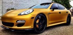 Game-Matte-Gold-Wraped-Porsche-Panamera