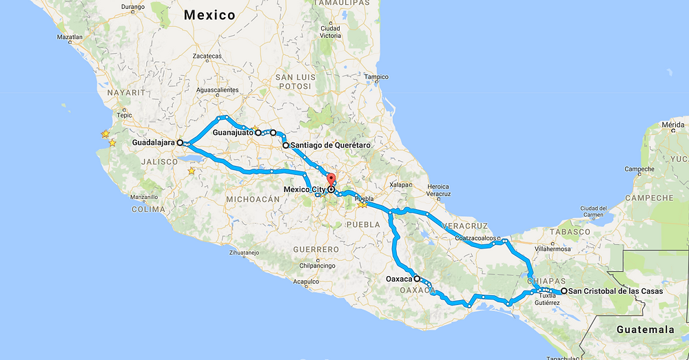 Itinerary for Mexico