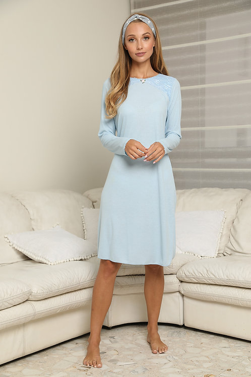 Midi modest reeb nightgown