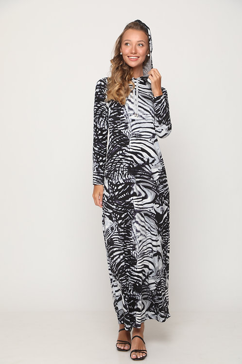 Nursing printed maxi  dress