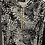Thumbnail: שמלת הנקה מקסי מודפסת עם שרוך זהב