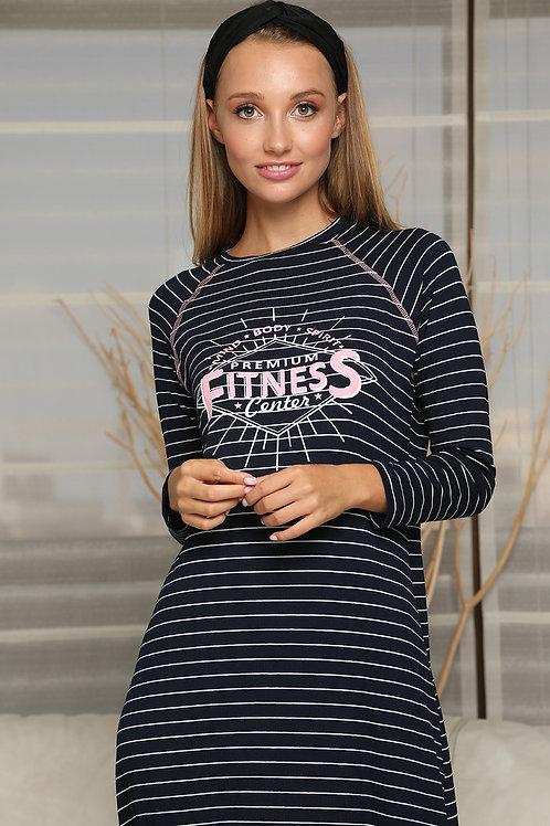 שמלת בית/ כותונת ספורטיבית פסים