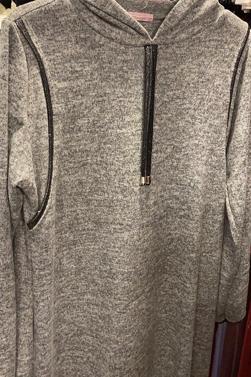 שמלת/כותונת הנקה מקסי סריג דק עם קפוצון