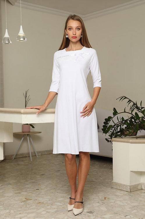 Modest midi  bride gown-Celine