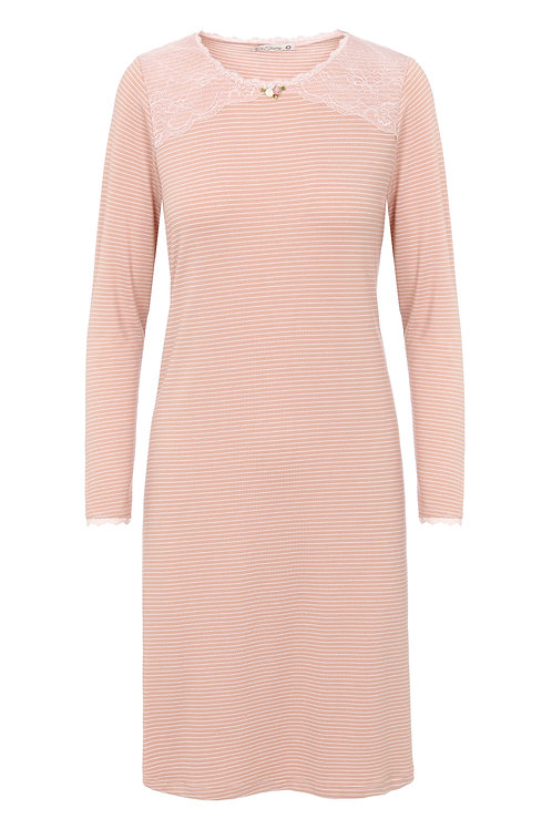 Stripes midi dark pink gown