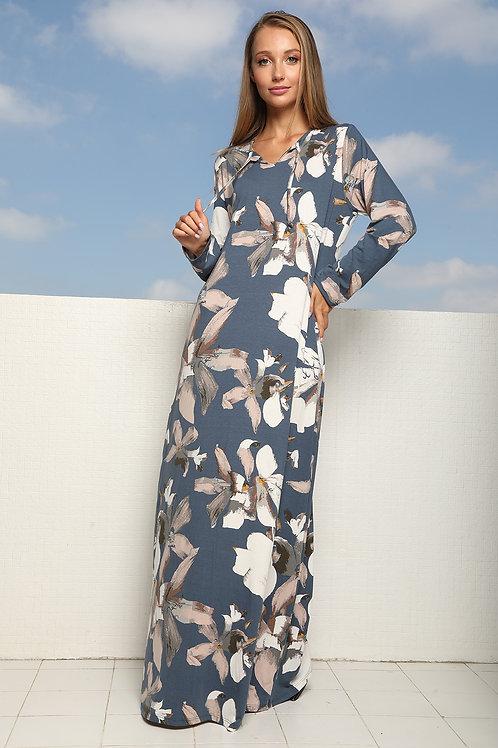 שמלת בית מקסי למידות גדולות