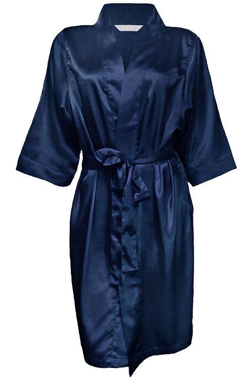 Mini satin robe