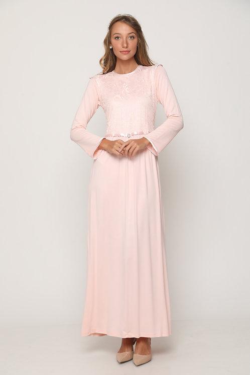 Milka modest bride gown