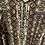 Thumbnail: שמלת הנקה מקסי מנוחשת מבד סריג דק ונעים