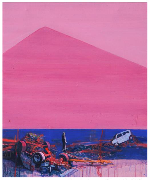 Media Meditation-Anxiety in Peace3, acrylic on canvas, 72.7cm x 60.6cm, 2012