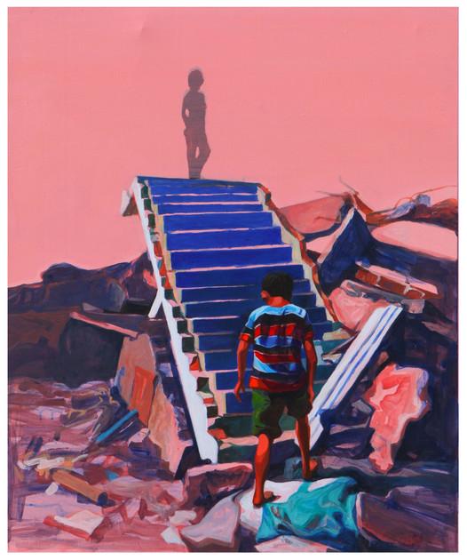 Media Meditation-Anxiety in Peace4, acrylic on canvas, 72.7cm x 60.6cm, 2012