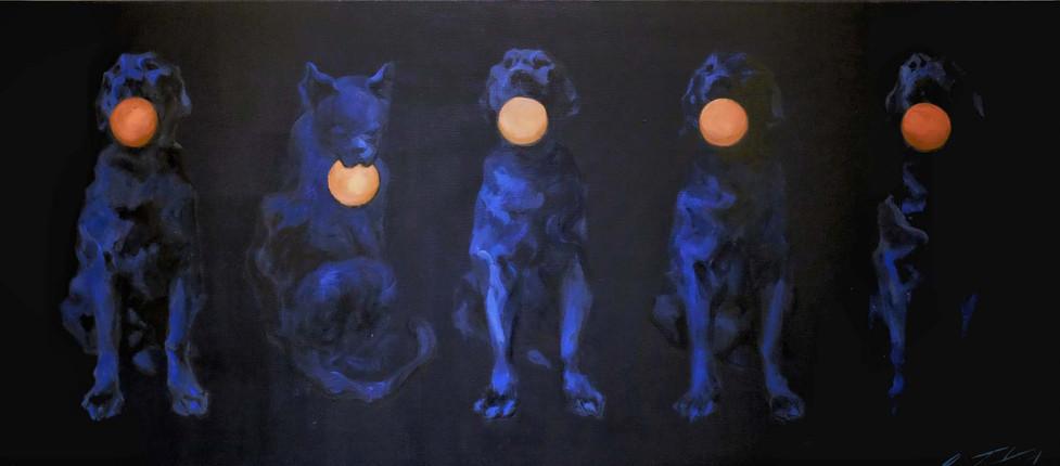 CATOG 1 개양이1, acrylic on canvas, 80cm X 135cm,  2010