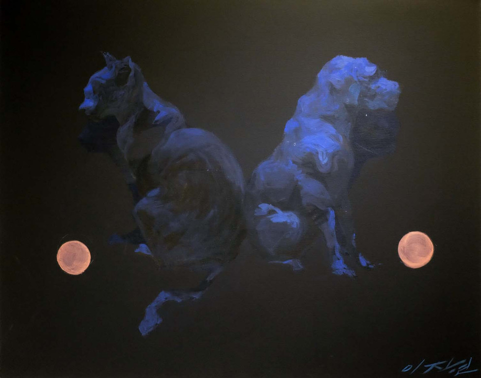 CATOG 2 개양이2, acrylic on canvas, 73cm X 91cm,  2010
