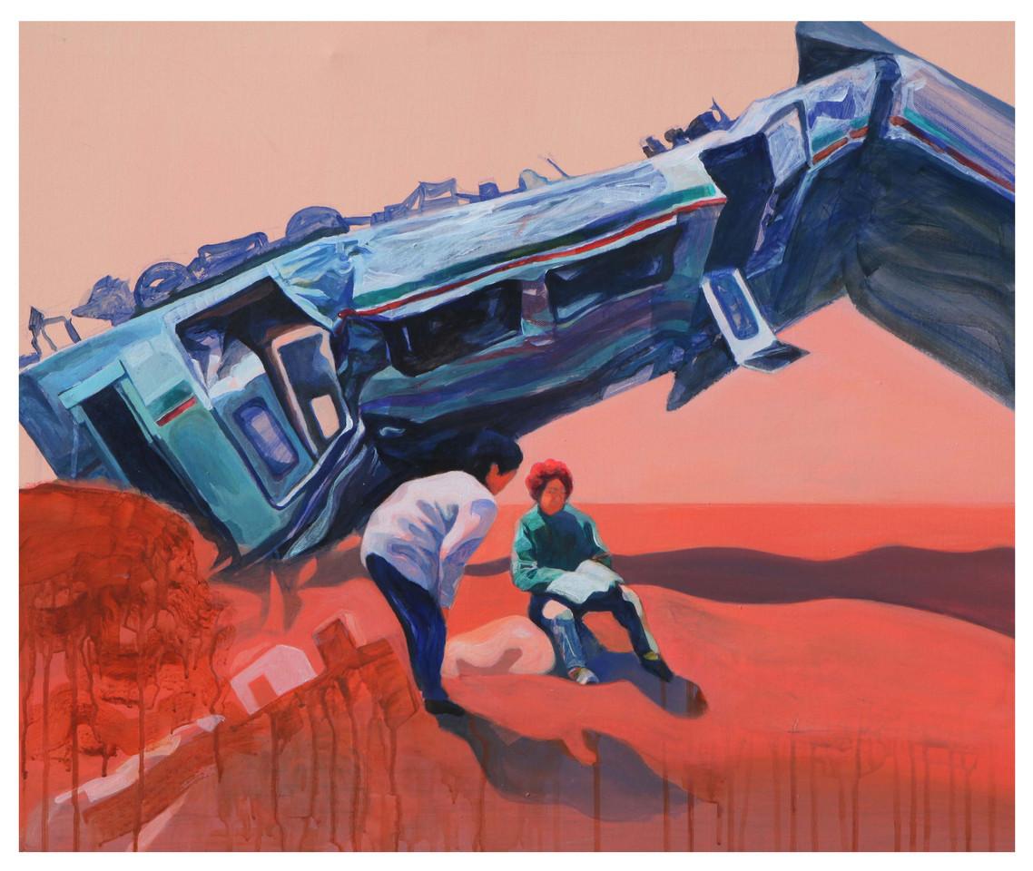 Media Meditation-Anxiety in Peace2, acrylic on canvas, 60.6cm x 72.7cm, 2012