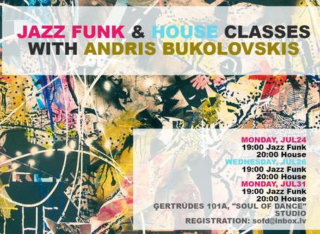 Trīs vakari ar Andri Bukolovski: Jazz Funk un House