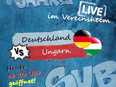 Sportheim öffnet zum Spiel Deutschland gegen Ungarn