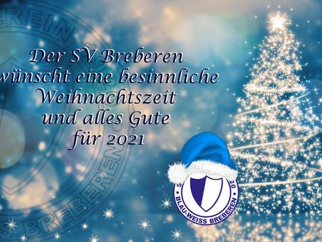 Blauweiße Weihnachtsgrüße