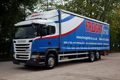 vehicle graphics in cheshire, cheshire sign writing, lorry curtaints. truck livery