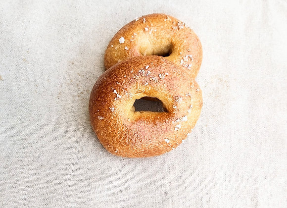 Flaked Sea Salt Bagels | By Tall Shadow Breads