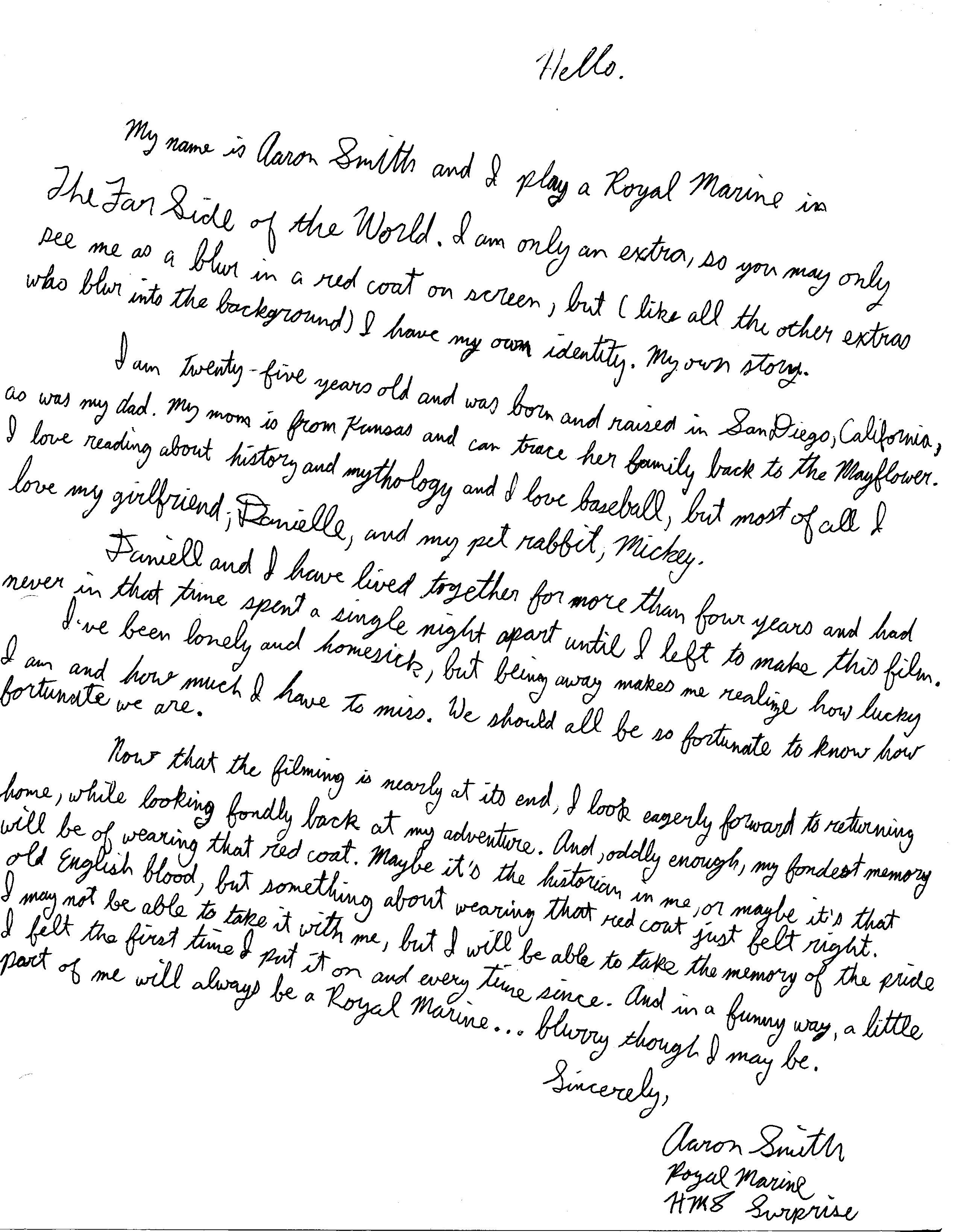 Aaron Smith Writing