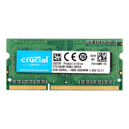 Memoria Ram Notebook 8GB=2PCS*4G PC3L 12800S DDR3L 1.35 V Todas las frecuencias