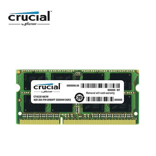 Memoria Ram Notebook Crucial DDR3 4G  204pin 1.35V