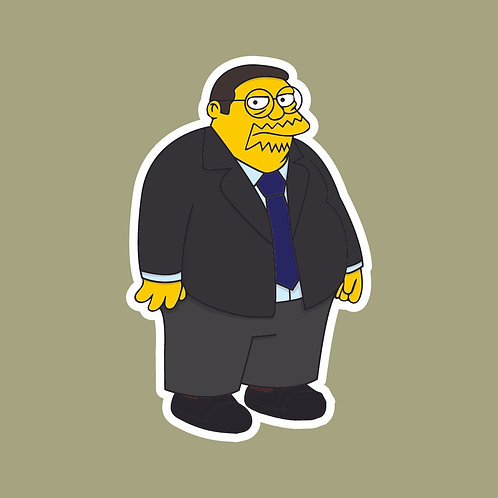 Keith (The Office) X Simpsons Sticker