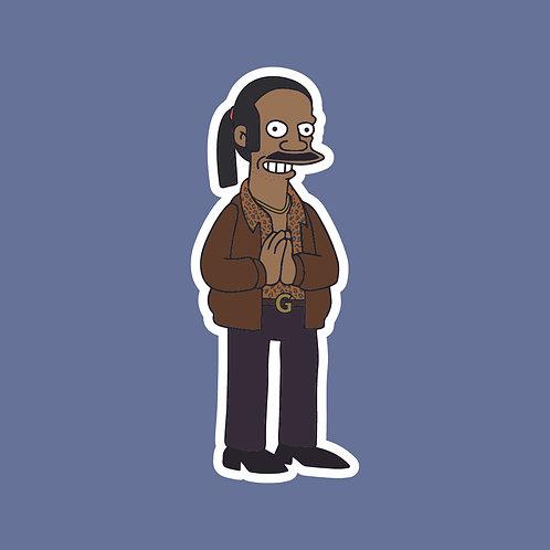 Chabuddy G (PJDN) x Simpsons Sticker
