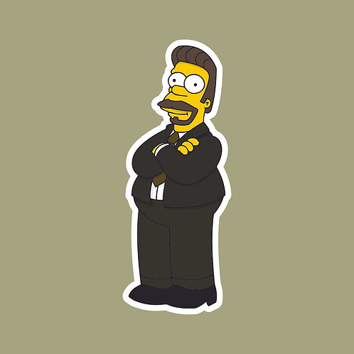 David (The Office) X Simpsons Sticker